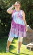 Tie Dye Sleeveless 100% Cotton Ana Tank Dress