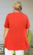 100% Cotton Applique Short Sleeve V-Neck Top