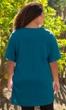 Cotton Jersey V-Neck Short Sleeve Tunic