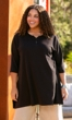 Cotton Jersey Henley 3/4 Sleeve Tunic