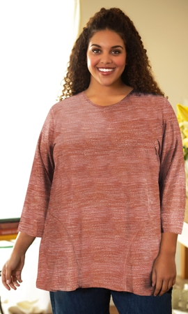 Lisse 3/4 Sleeve Side Panel Tunic