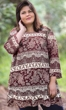 Printed 3/4 Sleeve Matsin Plus Size Tunic