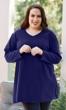 Cotton Jersey V-Neck Long Sleeve Tunic
