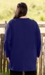 Cotton Jersey V-Neck Long Sleeve Tunic