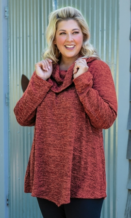 Hacci Cowl Neck Long Sleeve Tunic