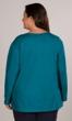 Cotton Jersey U-Neck Long Sleeve Tee