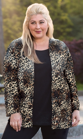 Printed Layla Twofer Plus Size Blouse
