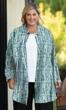 Printed Long Sleeve Chiffon Button Up Rodie Oversize Tunic