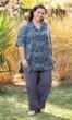 Sale Hand Batik 100% Rayon Short Sleeve Tipton Oversize Shirt