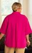 Solid Cotton Short Sleeve Ameli Basketweave Shirt