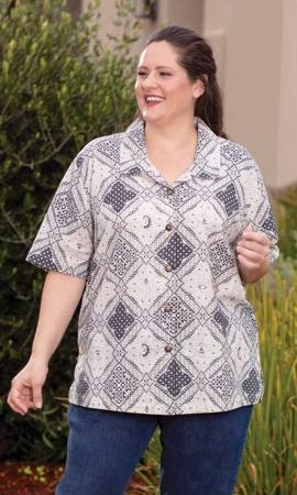 Nova Batik Short Sleeve Button Up Shirt