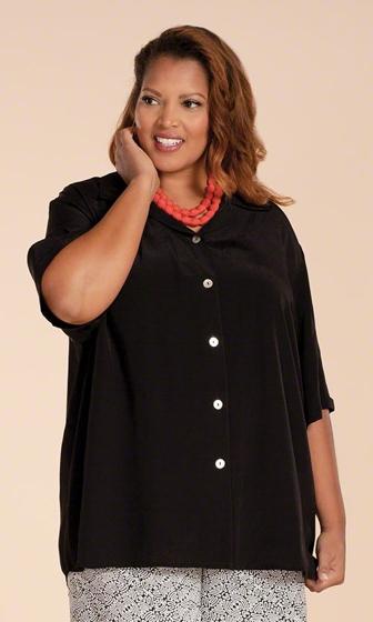 Danica Solid Short Sleeve Button Up Shirt