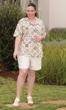 Trinity Batik Short Sleeve Button Up Shirt