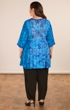 Hand Batik Rayon 3/4 Sleeve Square Neck Toiya Tunic