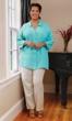 Sale Linen Solid Long Sleeve Button Up Shirt
