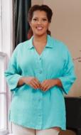 Linen Solid Long Sleeve Button Up Shirt