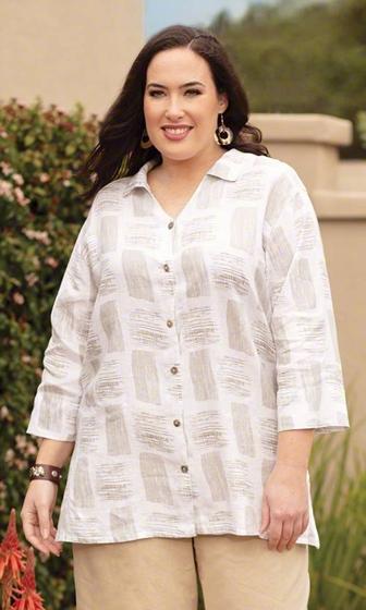 Sale Harmony Linen Long Sleeve Button Up Shirt
