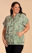 Maud Half Sleeve Camp Short Sleeve Button Up Shirt