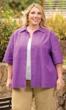 Sale Print 100% Cotton Short Sleeve Peony  Shirt