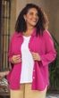 100% Crinkle Cotton Long Sleeve Button Up Solid Kendall Tunic