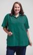 Short Sleeve Oversize Solid Button Up Shirt