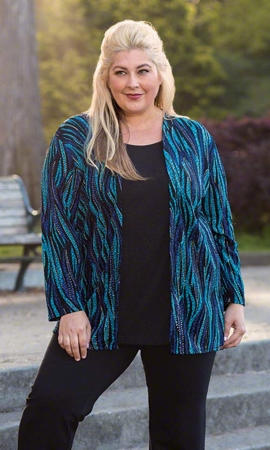 Layla Long Sleeve Plus Size Blouse 2X-8X