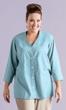 Sale Linen Solid Short Sleeve Button Up Blouse