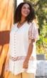 Print Short Sleeve Round Neck Tonya Blouse