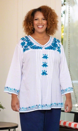 Wangari Long Sleeve Plus Size Blouse 2X-8X