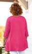 Idalia Henley Solid Long Sleeve Cotton Knit Tunic