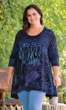 Ursula Blue 3/4 Sleeve Tunic