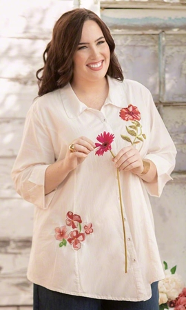 Malala Long Sleeve Plus Size Tunic 2X-8X