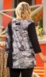Print 3/4 Sleeve V-Neck Helen Tunic