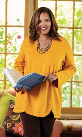 Llana Baby Terry Solid Long Sleeve Plus Size Tunic 2X-8X