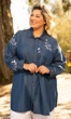 Embroidered Rayon Cotton Cuffed Long Sleeve Tunic