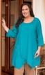 Sale Solid 100% Cotton 3/4 Sleeve Hattie Detail Tunic