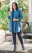 Sale Jersey Long Sleeve V Neck Solid Cotton Knit Tunic