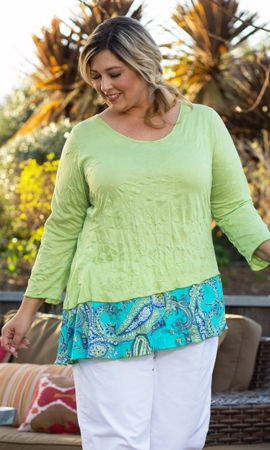 Round Neck 3/4 Sleeve Kristi Tunic