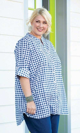 Lillian Bracelet Sleeve Plus Size Tunic 2X-8X