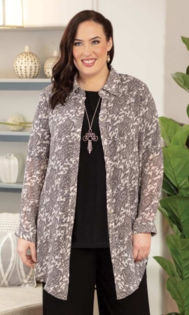 Adelaide Long Sleeve Plus Size Tunic 2X-8X