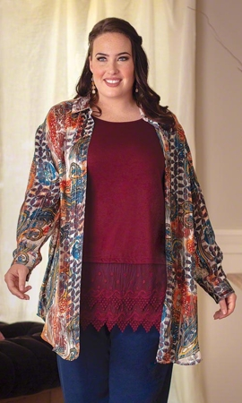 Kelso Rodie Long Sleeve Plus Size Tunic 2X-8X