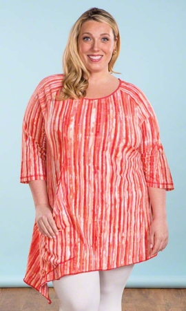 Long Sleeve Mari Plus Size Tunic 0X-8X