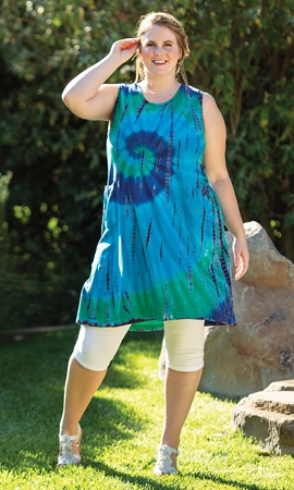 100% Cotton Tie-Dye Sleeveless Jasper Tunic