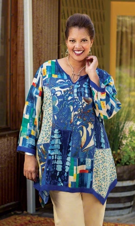 Anaise Long Sleeve Plus Size Tunic 2X-8X