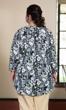 Pleated Mandarin Collar 3/4 Sleeve Edna Tunic