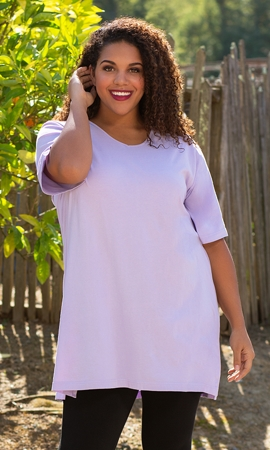 100% Cotton Short Sleeve V-Neck Tunic