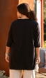 100% Cotton 3/4 Sleeve Henley Tunic