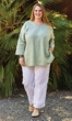 Sale Linen Solid Bracelet Sleeve Tunic