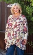 Sale Tawny Ribbed Cuffed Long Sleeve Cotton Knit Tunic