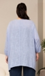 Everly Henley Solid Long Sleeve Cotton Rayon Top